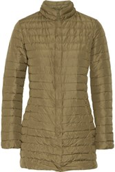 Duvetica Elare Quilted Shell Down Coat Mushroom