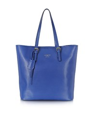 Le Parmentier Large Saffiano Leather Tote Blue