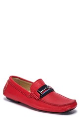 Bugatchi Monza Driving Shoe Red Leather