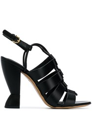 Salvatore Ferragamo Sculpted Heel Sandals Black