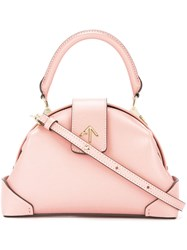 Manu Atelier Demi Crossbody Bag Pink And Purple