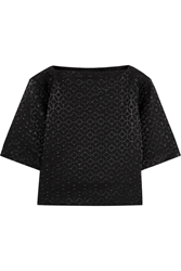 Studio Nicholson Savanna Satin Jacquard Top Black