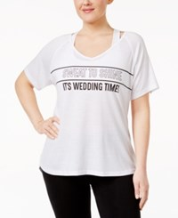 Ideology Plus Size Bridal Graphic T Shirt Only At Macy's Bright White