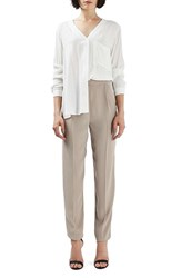 Topshop Women's Satin Panel Tapered Pants