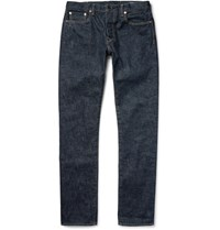 The Workers Club Slim Fit Rinsed Selvedge Denim Jeans Indigo