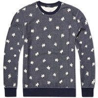 Paul Smith Flower Jacquard Sweater Navy