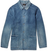 Chimala Washed Selvedge Denim Jacket Indigo