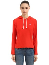 Champion Logo Recycled French Terry Sweatshirt Red