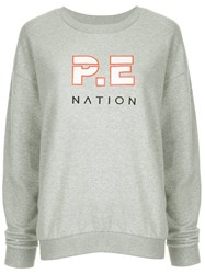 P.E Nation Heads Up Printed Sweatshirt Grey