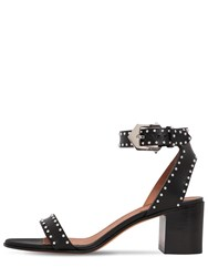 Givenchy 60Mm Studded Leather Sandals Black