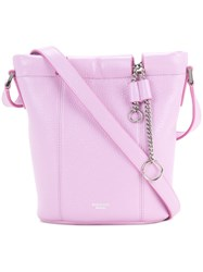 Rochas Small Patent Bucket Bag With Chain Pink