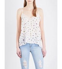 The Kooples Floral And Ladybird Print Silk Camisole Ecr01