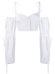 Daizy Shely Broderie Anglaise Blouse White