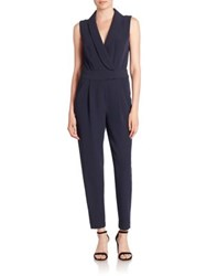 Milly Cady Tuxedo Jumpsuit Navy