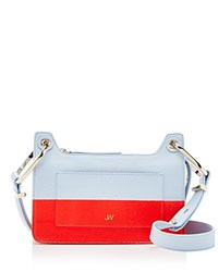 Jason Wu Suvi Color Block Snakeskin Shoulder Bag Coral Reef Red Gold