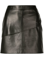 Givenchy Mini Leather Skirt Black