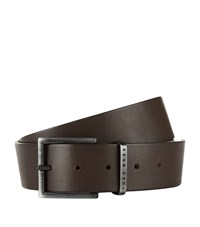 Boss Smooth Leather Belt Unisex Brown