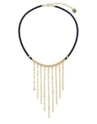 Laundry By Shelli Segal Pailette Frontal Necklace White