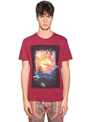 Etro Printed Cotton Jersey T Shirt Red