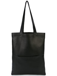 Rick Owens Small Signature Leather Tote Black
