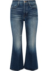 Frame Rigid Re Release Le Cropped High Rise Slim Leg Jeans Mid Denim