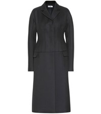 Jil Sander Wool Coat Blue