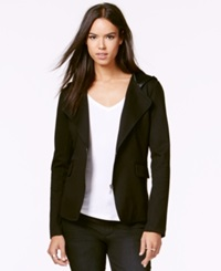 Rachel Rachel Roy Hooded Zip Front Blazer Black
