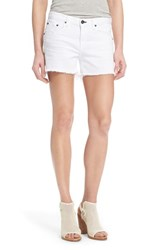 Rag And Bone Women's Rag And Bone Jean 'Boyfriend' Cutoff Denim Shorts Bright White