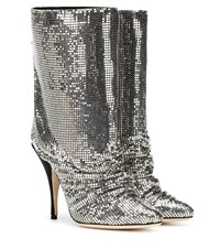 Marco De Vincenzo Chainmail Ankle Boots Silver
