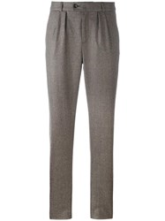 A.P.C. Pleated Detailing Tailored Trousers Brown