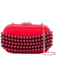 Corto Moltedo Embellished Susan Clutch Bag Red