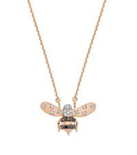 Bee Goddess Rose Gold And Diamond Queen Necklace Multi