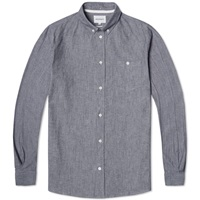 Norse Projects Button Down Anton Chambray Shirt Dark Navy