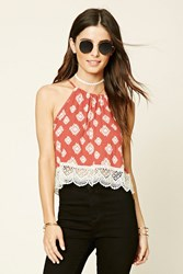 Forever 21 Abstract Print Crop Cami