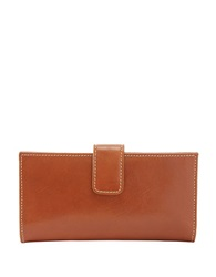 Tusk Slim Leather Clutch Wallet Tan