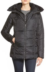 Women's Hawke And Co. Quilted Jacket With Inset Bib Black