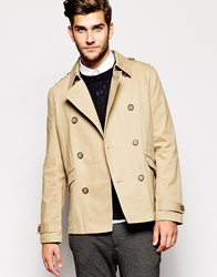 Asos Trench Coat In Shorter Length Stone