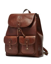 Ghurka Blazer No. 278 Leather Backpack Vintage Chestnut