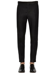 Dsquared 16.5Cm London Silk And Wool Evening Pants Black