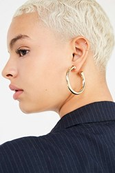 Urban Outfitters Chunky Hollow Hoop Earring Gold