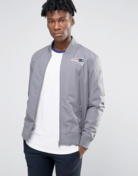 New Era Patriots Bomber Jacket Grey