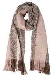 Anna Field Scarf Taupe Offwhite Rose