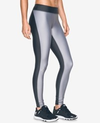 Under Armour Heatgear Engineered Compression Leggings Carbon Heather X Ray