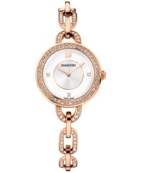 Swarovski Women's Swiss Aila Crystal 18K Pvd Rose Gold Plated Bracelet Watch 31Mm 1094379