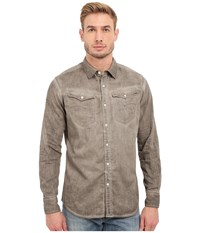 G Star Arc 3D Long Sleeve Shirt In Lightweight Lopp Overdye Dune Oak Od Men's Clothing Beige