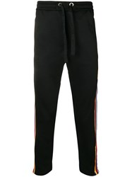 Iceberg Stripe Track Pants Black