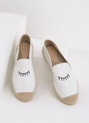Mint Velvet Gina Embroidered Espadrilles White