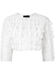 Ktz Scale Effect Embellished Jacket White