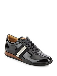 Bally Leather Lace Up Sneakers Black