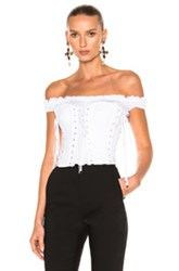 Dolce And Gabbana Corset Top In White